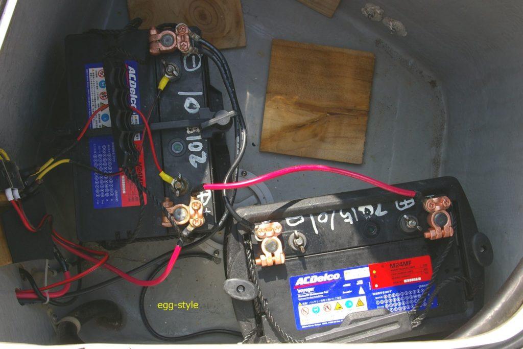 ハウスユース専用バッテリー80A×2並列