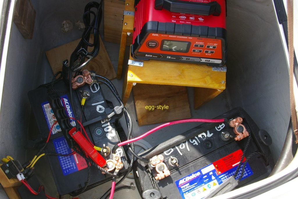 バッテリー端子をきれいにして充電