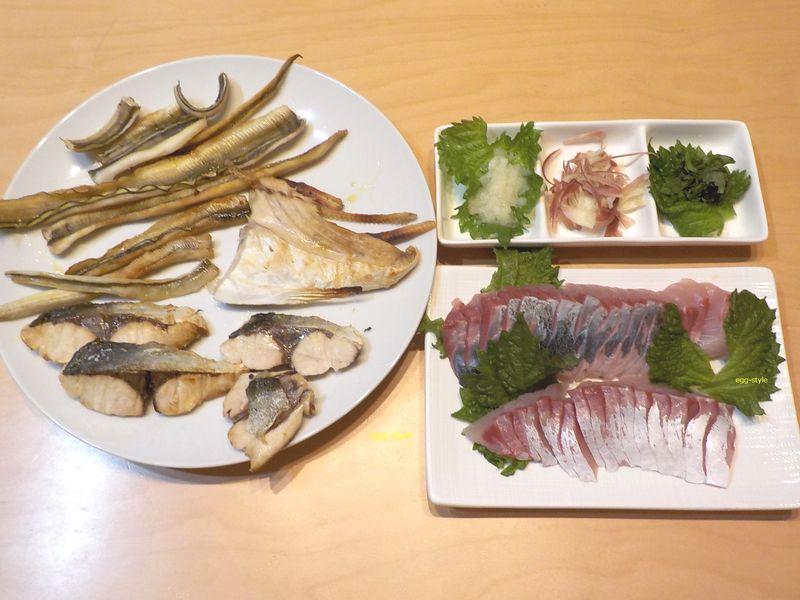 ハマチの刺身と焼き物