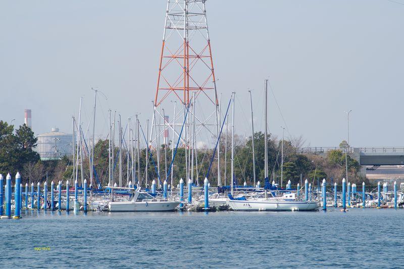 播磨町新島のヨットヤード