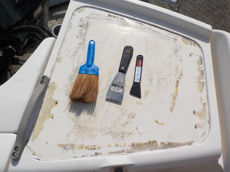 削り屑は小さいほうきで掃除 だんだんきれいになった