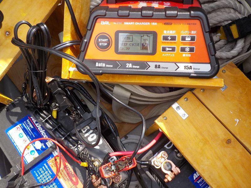ディープサイクルバッテリーの補充電