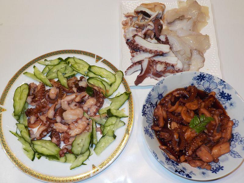 タコの刺身は定番、煮ダコはうまい、ガーリックソテーも好物