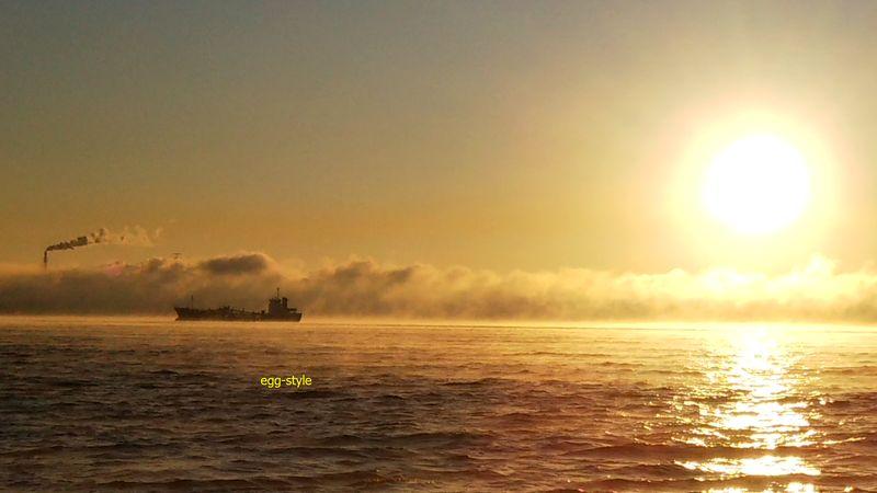 加古川沖の霧の壁