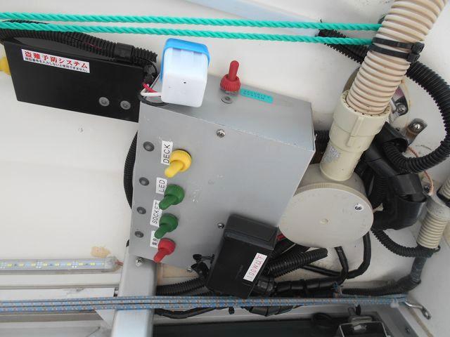 ルーフの電装機器の配電ボックス