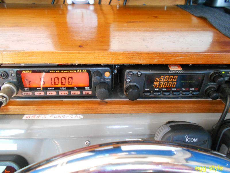 ボート搭載のアマチュア無線機