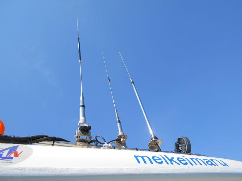 国際VHF無線用アンテナ 右端