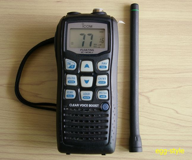 国際VHF無線ハンディー機