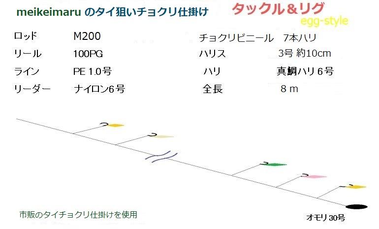 meikeimaru のタイ狙いチョクリ仕掛け図