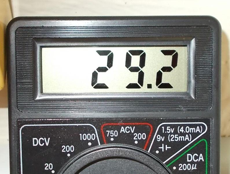 暗電流の計測値 29.2mA