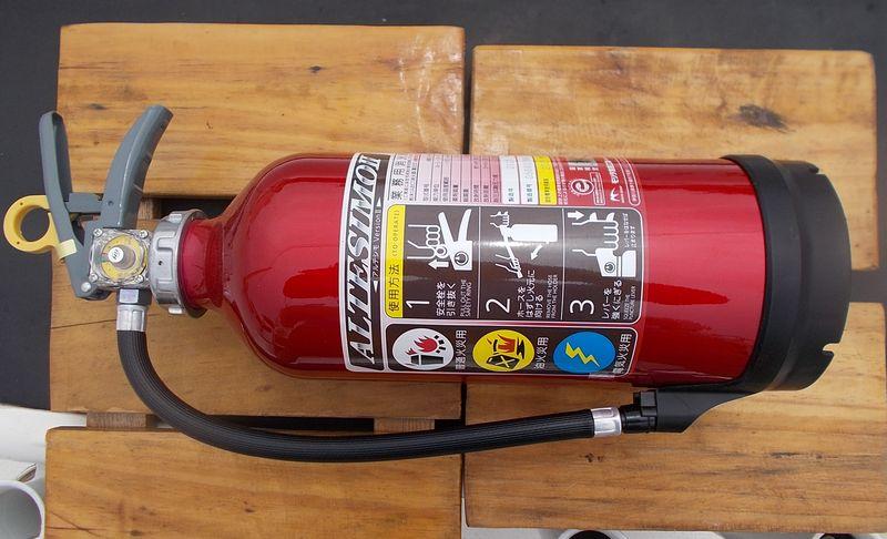 消火器を新しい製品に代替しました。