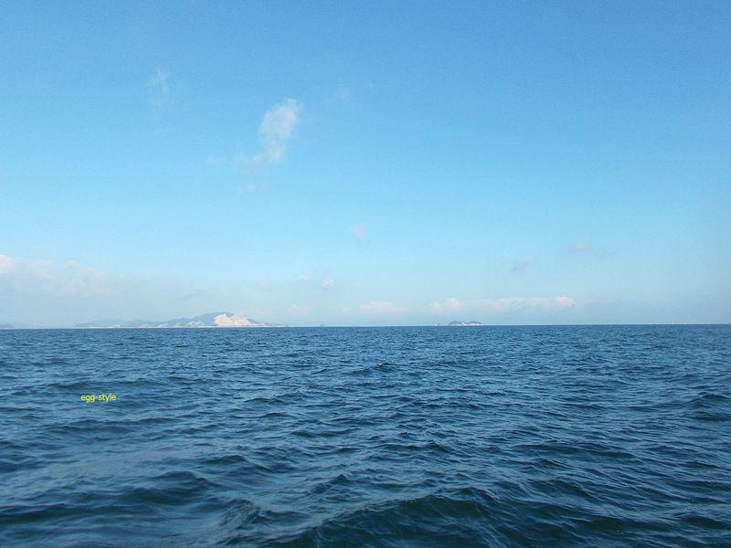 まだまだ夏の空の家島諸島。風光明媚なこの海での釣りは楽しいです